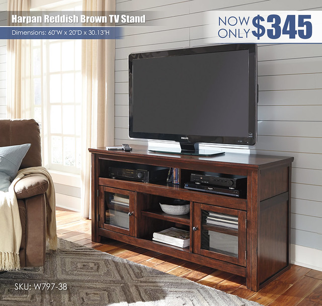 Harpan Reddish Brown TV Stand_W797-38