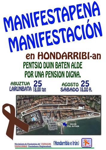 Cartel Manifestación de Pensionistas