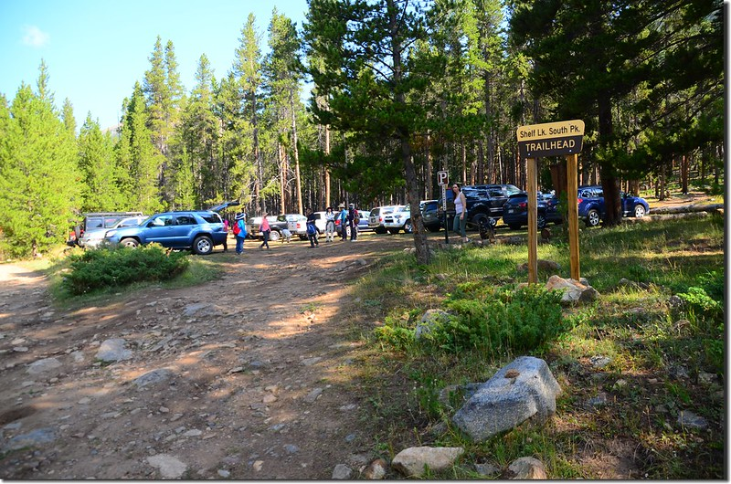 Shelf Lake Trailhead Parking lot