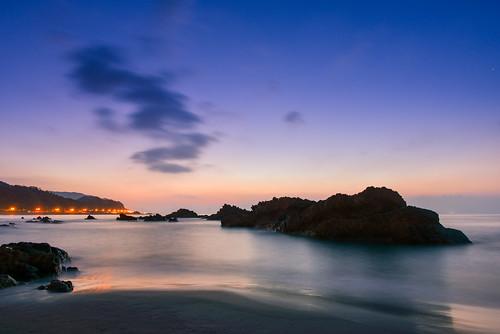 taiwan yilan toucheng waiao beach eastcoast northeastcoast sunrise dawn scenery outdoors rock 台灣 宜蘭 頭城鎮 外澳 東北角海岸 晨曦