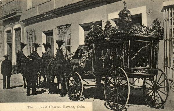 Funeral coach in Havana, Cuba.