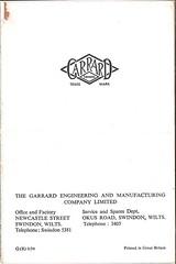Garrard Brochure 1954 g