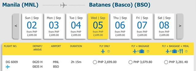 Cebu Pacific Promo Manila to Batanes September 5, 2018