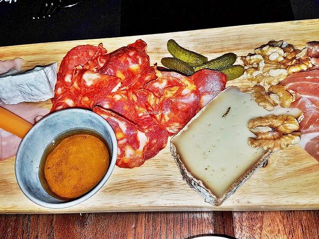 G-Board - Livarot, Chorizo, Pickled Gherkins, Honey
