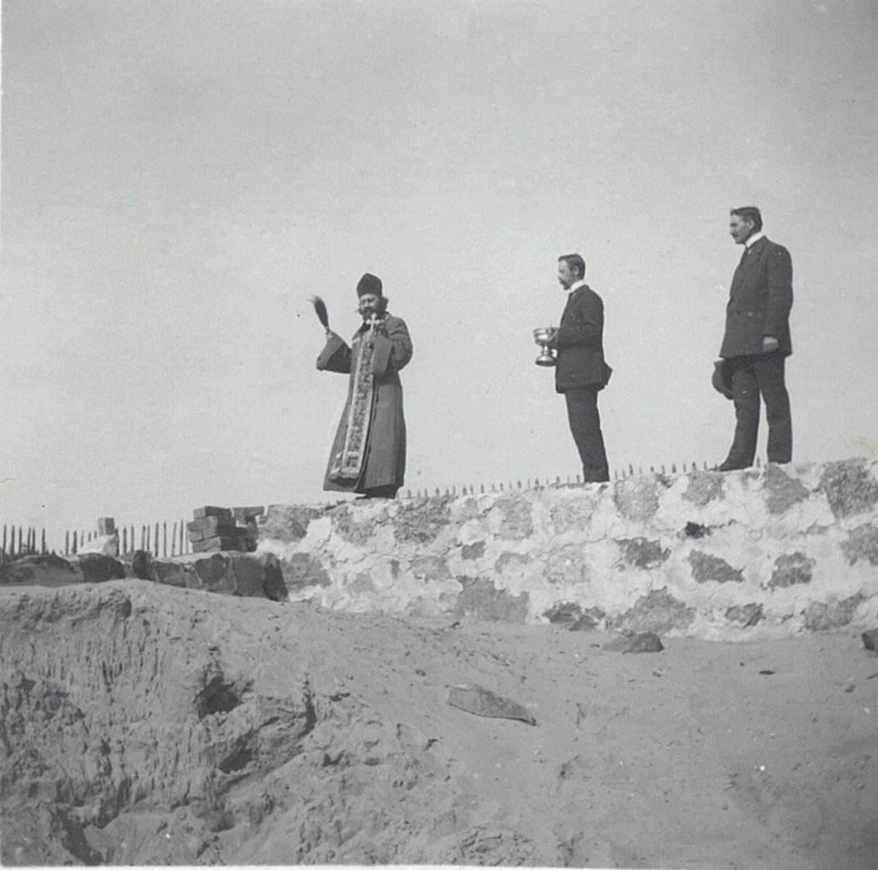 1899. Освящение строящихся стен церкви Спаса Нерукотворного в Рябово.