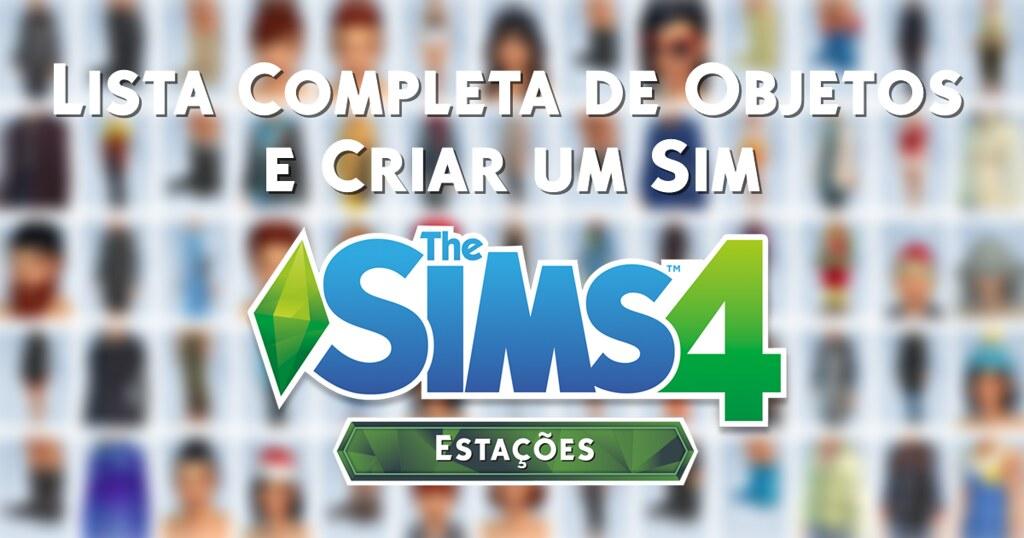 Foto de Todos os Objetos e Roupas do The Sims 4 Estações