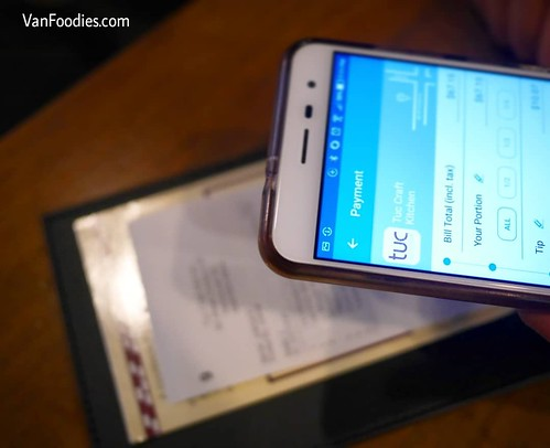 Using Glance Pay Mobile Payment App at Tuc Craft Kitchen