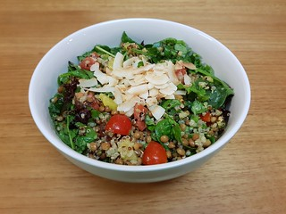 Green Curry Lentil Quinoa Salad