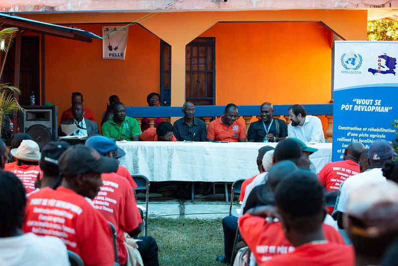 Lancement du projet de rehabilitation d'une piste agricole dans les communes de Thomande et de Hinche