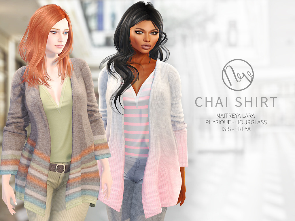 NEVE  @ TRES CHIC – August 17th  https://maps.secondlife.com/secondlife/Nika/128/121/2001