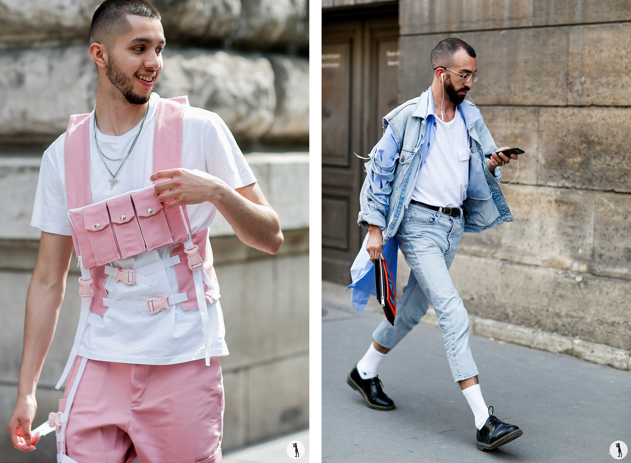 Street style - - Paris Fashion Week Menswear SS19