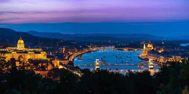 Budapest Panorama from Gellert Hill