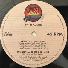 PATTI AUSTIN:RHYTHM OF THE STREET(LABEL SIDE-B)