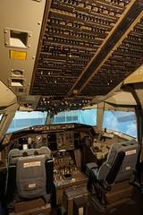 Boeing 767 Cockpit at the Delta Flight Museum Atlanta Georgia