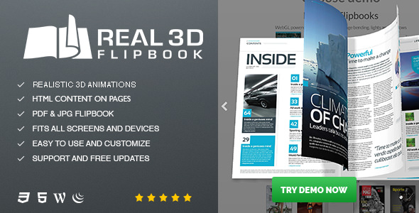 Real3D FlipBook v3.4.17.2 – WordPress Plugin