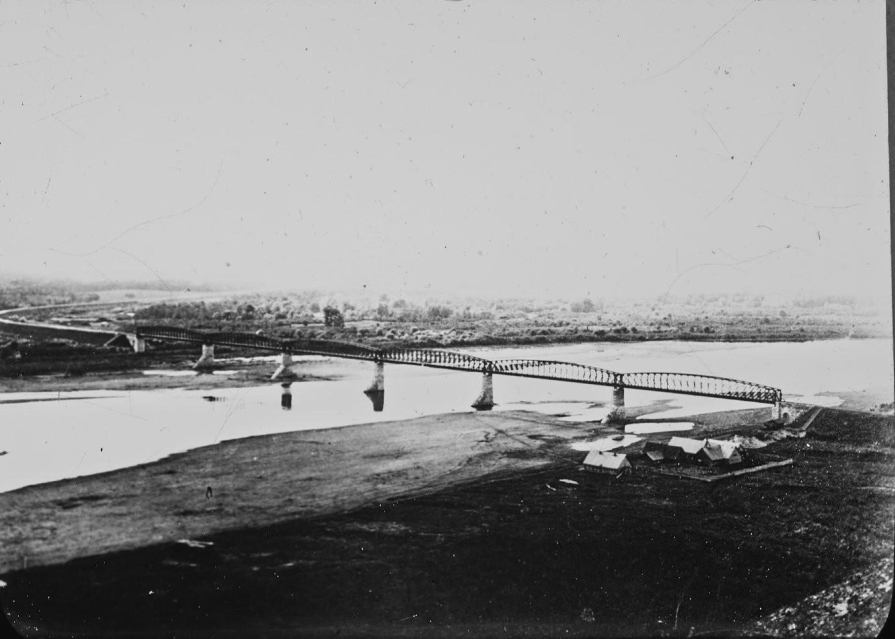 Уфимская губерния. Мост через реку Белая под Уфой
