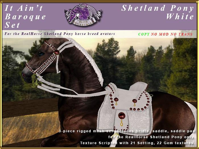 E-RH-ShetlandPony-ItAintBaroqueSet-White - TeleportHub.com Live!