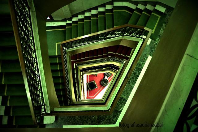 escaleras de Madri