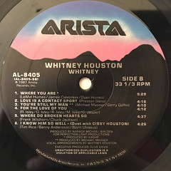 WHITNEY HOUSTON:WHITNEY(LABEL SIDE-B)
