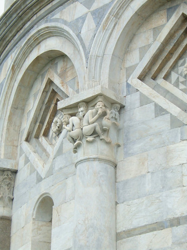decoration on Leaning Tower of Pisa