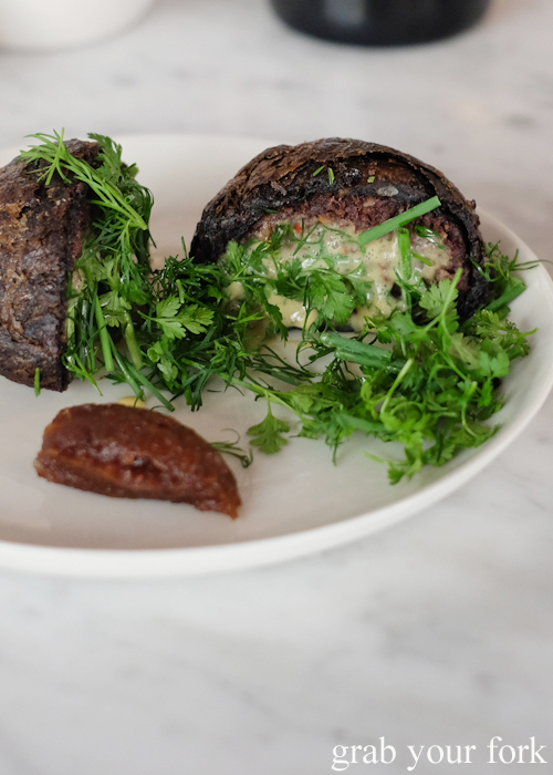 Inside the blood sausage pie at Poly by Mat Lindsay in Surry Hills