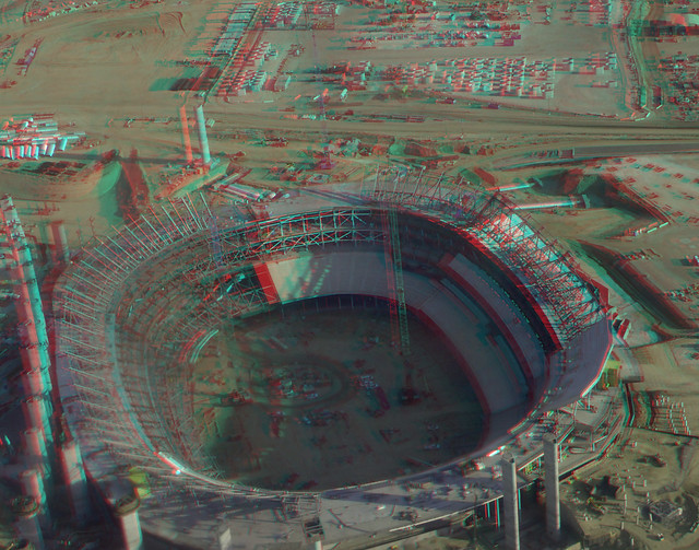 Los Angeles Stadium at Hollywood Park 3D hyperstereo red-cyan anaglyph - Olympus Stylus Tough TG-4