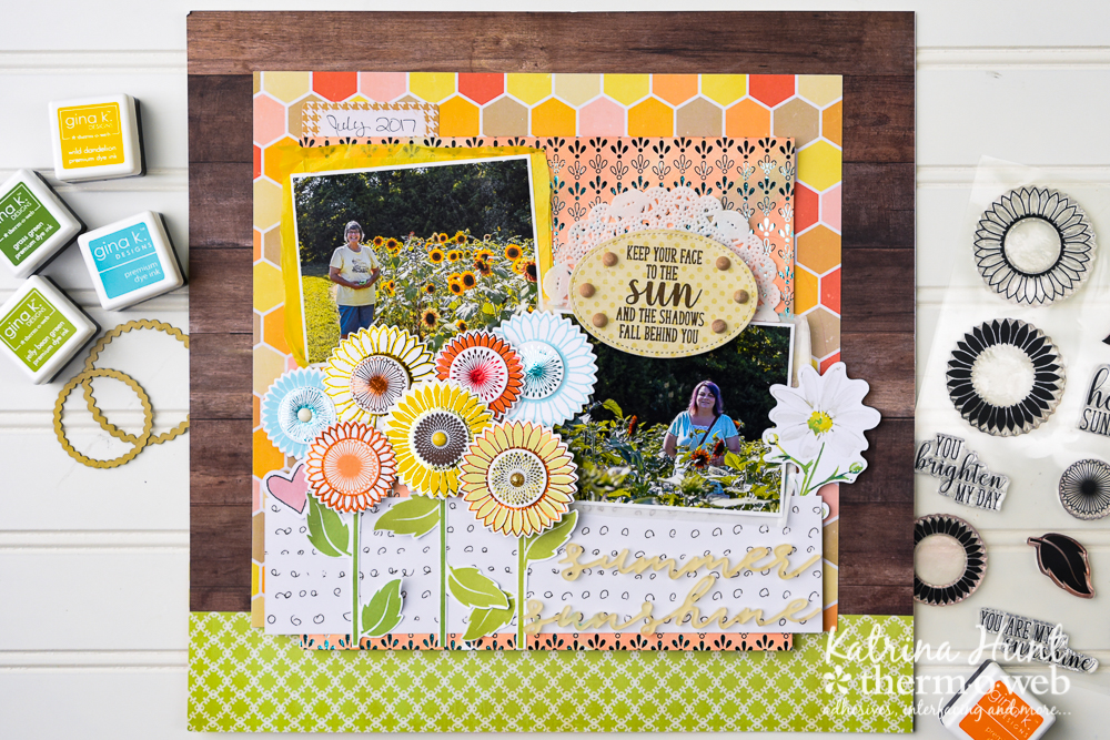 Summer_Sunshine_Scrapbook_Layout_Gina K_Designs_ThermOWeb_Katrina_Hunt_1000Signed-1