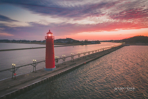 Lake Michigan lighthouse. Photographer Gregory Bozik