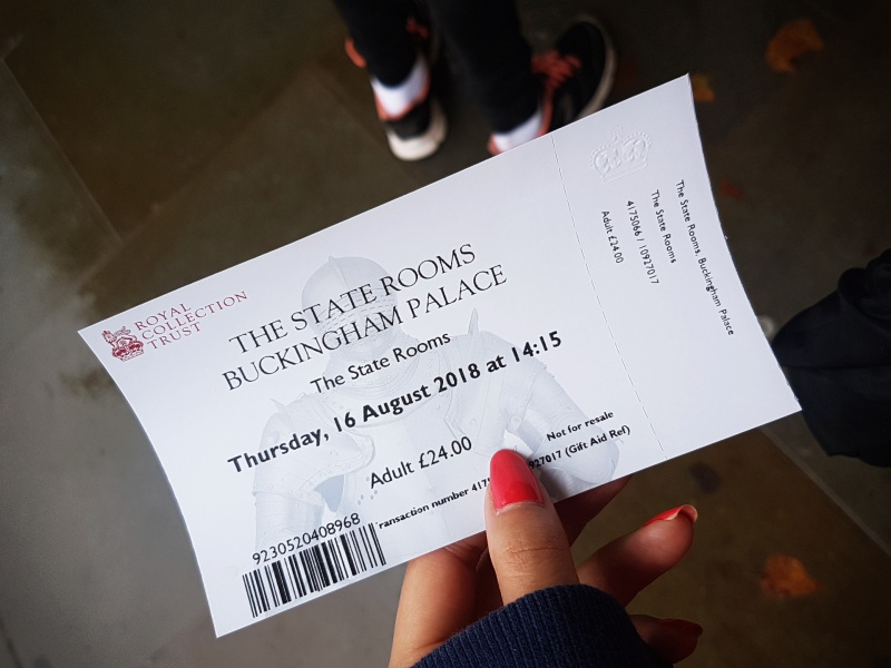 Buckingham Palace ticket