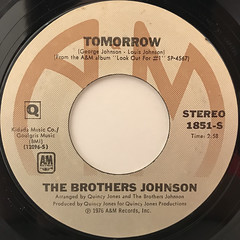 THE BROTHERS JOHNSON:GET THE FUNK OUT MA FACE(LABEL SIDE-B)