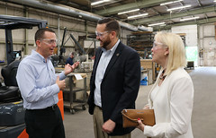 Reps. Hall and Davis toured CAMM Metals in East Windsor