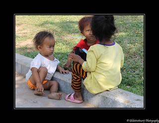 Enfants dans les rues de Phnom Penh- Cambodge- Cambodia