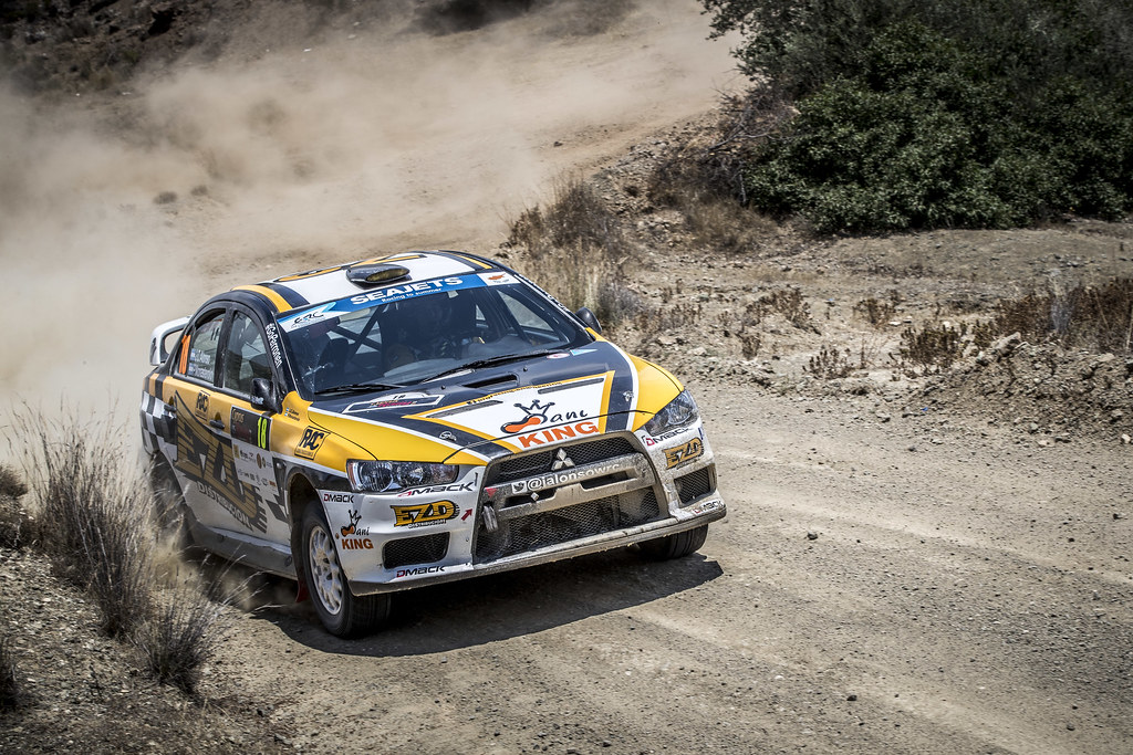 18 ALONSO Juan Carlos (ARG) MONASTEROLO Juan Pablo (ARG), JUAN CARLOS ALONSO, MITSUBISHI LANCER EVO X, action during the 2018 European Rally Championship ERC Cyprus Rally,  from june 15 to 17  at Larnaca, Cyprus - Photo Gregory Lenormand / DPPI