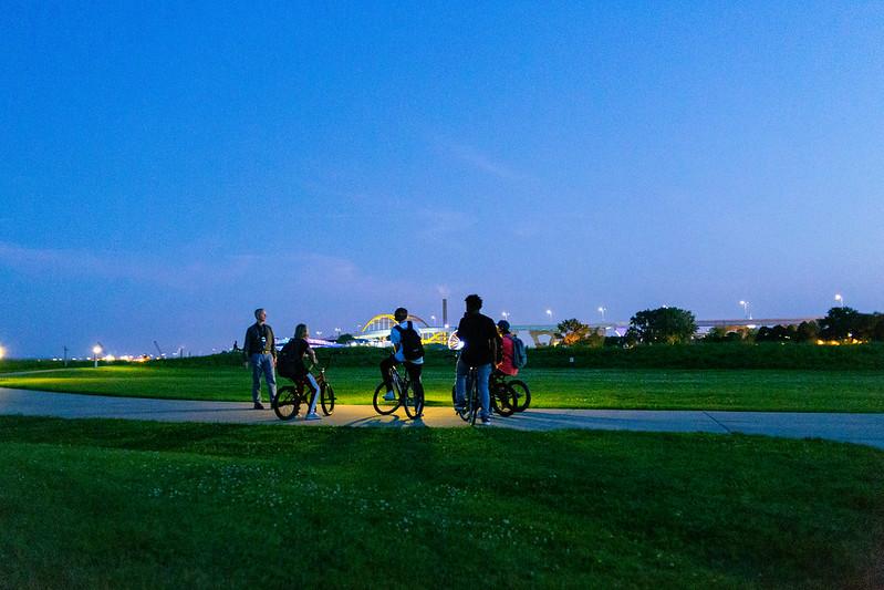 Cop vs. Bicycle Gang