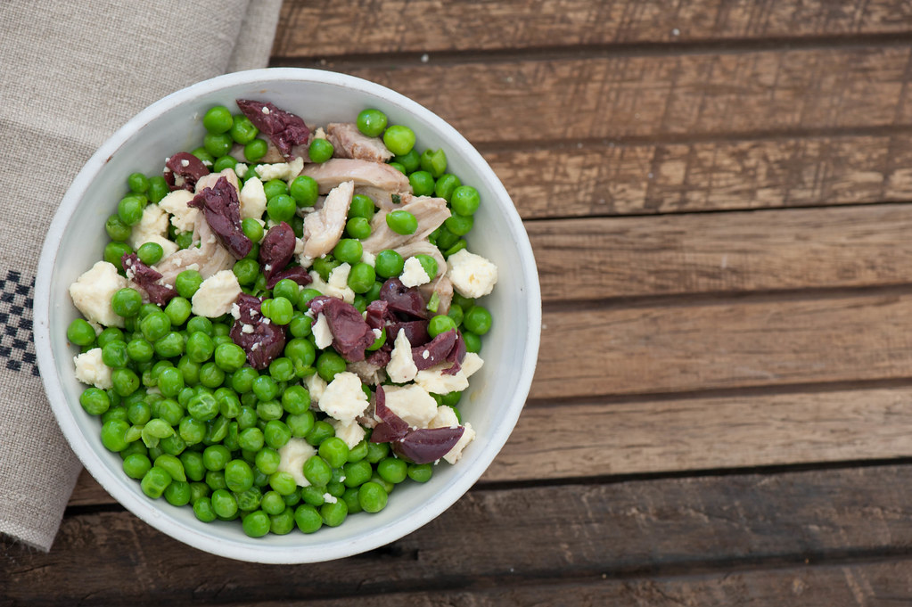 Big Pea Bowls with Goats Cheese & Olives-2