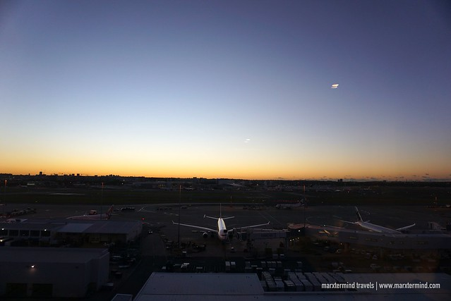 Sunrise View of Sydney Airport from Rydges Sydney Airport Hotel