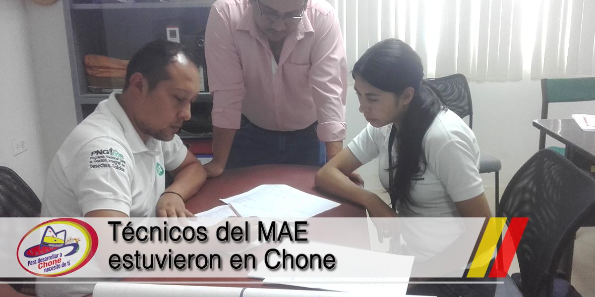 Técnicos del MAE estuvieron en Chone
