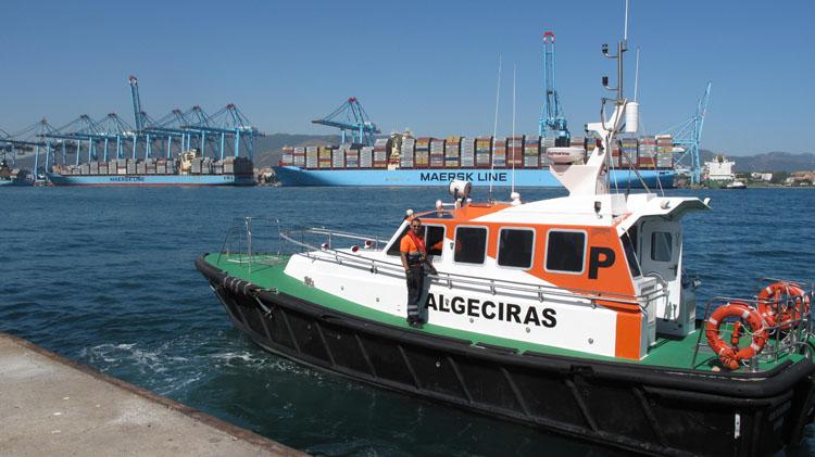Puerto de Algeciras. Lancha Prácticos1