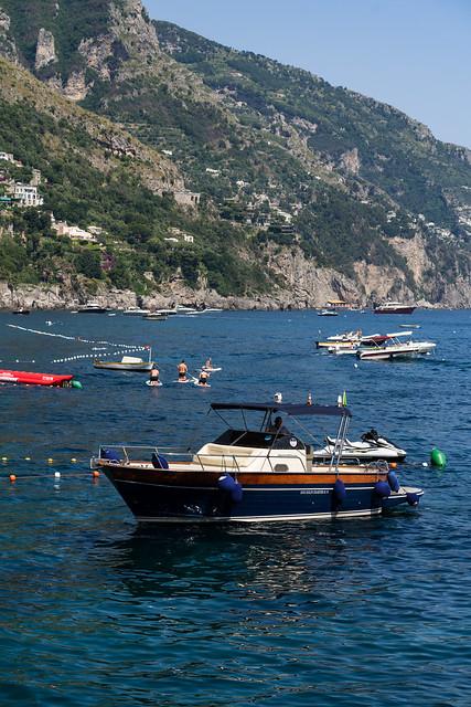 Boat in Positano