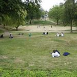 The cricket match in Winckley Sq gardens