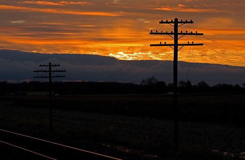 Sunrise along the old NYC Railroad # 2 (NS Chicago Line)