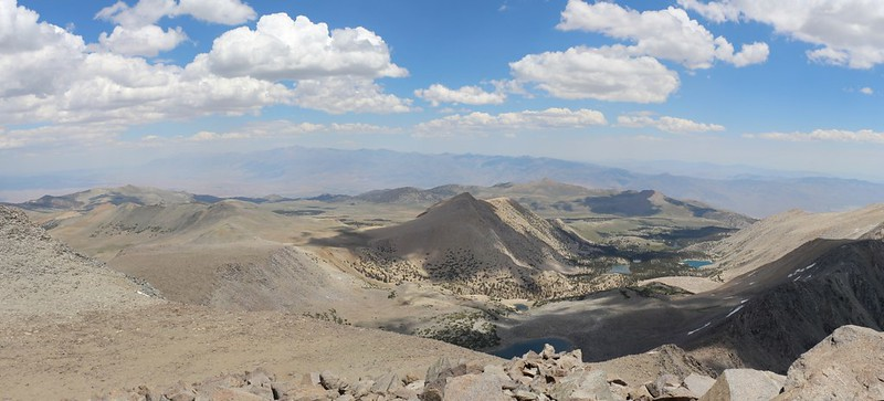 Panorama view to the northeast from high on the northeast ridge of Cloudripper