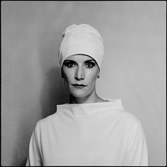 woman with bathing cap