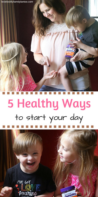 5 Healthy Ways To Start Your Day - An Easy Morning Routine with Kids That Focuses on Healthy Living {Sponsored by @Natrol} #natrolgummies #momlife #kids #healthyliving #vitamins #supplements #morningroutine