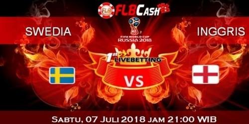 Prediksi Bola Piala Dunia – Swedia vs Inggris, hari Sabtu, 7 Juli 2018