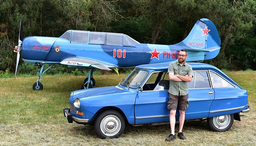 Me, my car and a plane.