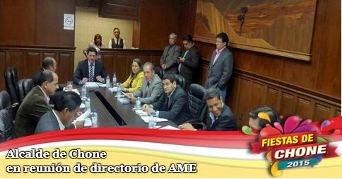 Alcalde de Chone en reunión de directorio de AME