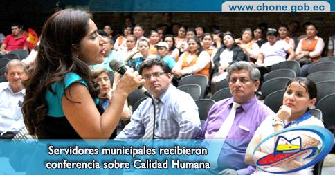 Servidores municipales recibieron conferencia sobre Calidad Humana