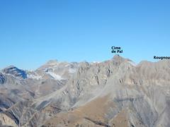 Vue depuis la Cime de l'Aspre : Cime de Pal, Mont Rougnous - Photo of Villeneuve-d'Entraunes
