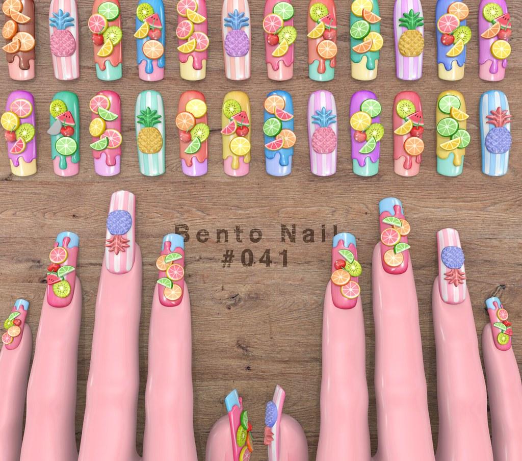 Bento Nail #041 - TeleportHub.com Live!